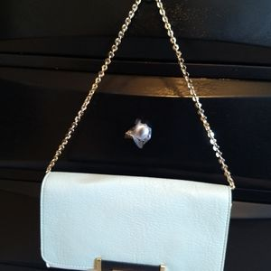 Ivanka Trump Clutch With Gold Hardware